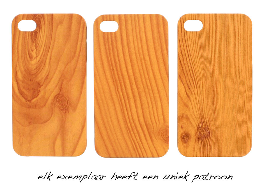 Hout-look Hard Case - Hoesje voor iPhone 4/4S