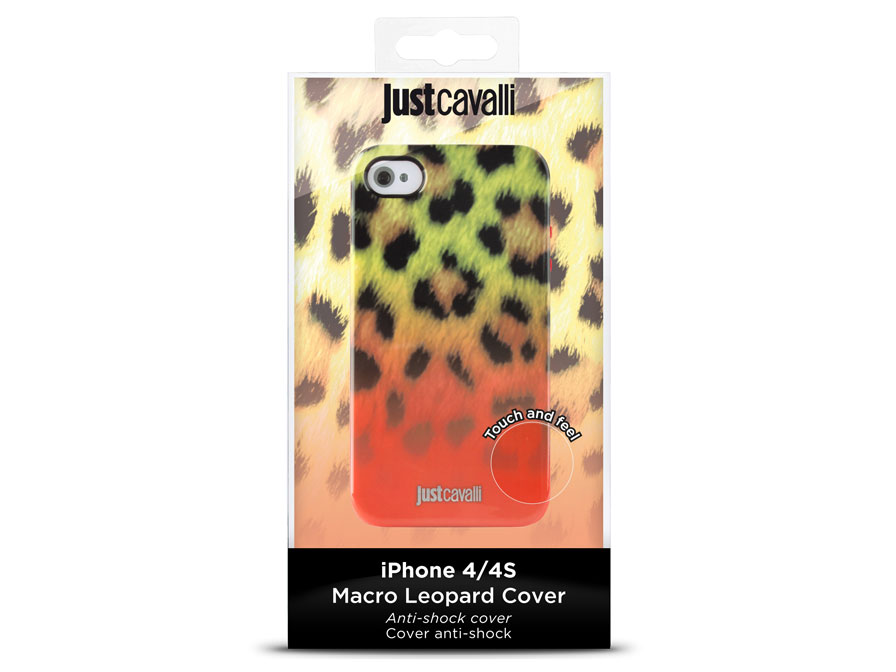 Just Cavalli Macro Leopard Cover - Hoesje voor iPhone 4/4S