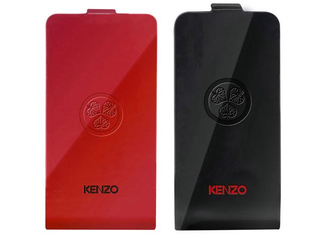 Kenzo Glossy Leather Flip Case - iPhone 4/4S hoesje