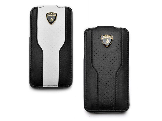 Lamborghini Leather Flip Case Hoesje voor iPhone 4/4S