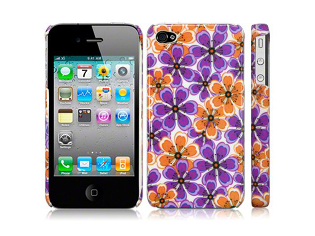 CaseBoutique 70s Flowers Hard Case Hoesje voor iPhone 4/4S