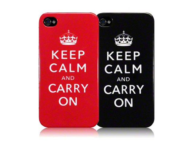 CaseBoutique 'Keep Calm and Carry On' TPU Hoesje voor iPhone 4/4S