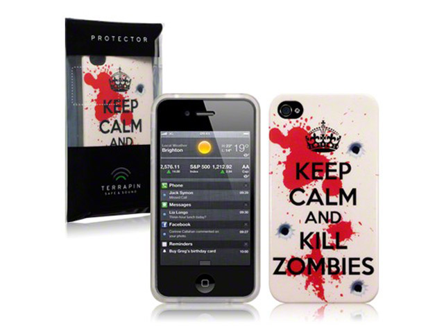 CaseBoutique 'Keep Calm and Kill Zombies' TPU Hoesje voor iPhone 4/4S