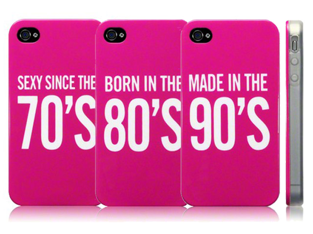 CaseBoutique TPU Case Pink 70's, 80's & 90's voor iPhone 4/4S
