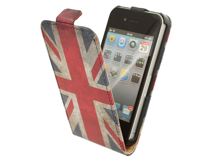 Great Brittain Vintage Flip Case voor iPhone 4/4S