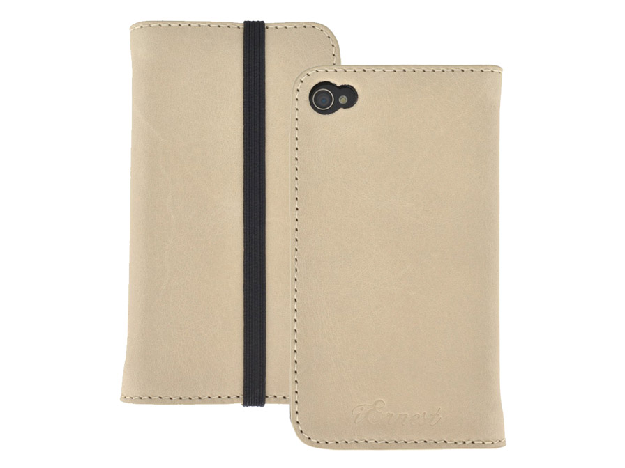 iErnest Card Holder 4 Echt Lederen Case voor iPhone 4/4S