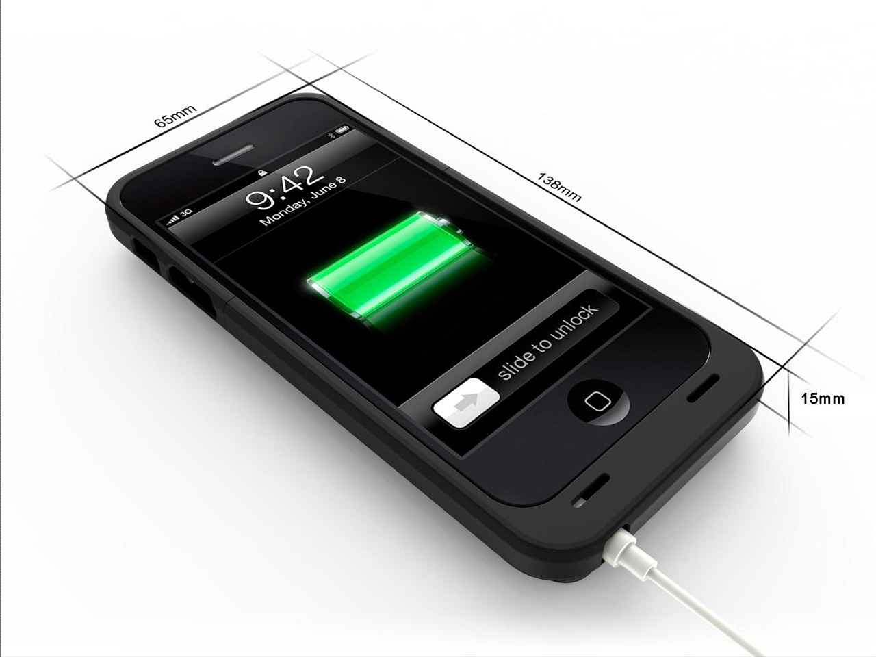 A-Solar Xtorm AM408 2000mAh Power Pack voor iPhone 5/5S