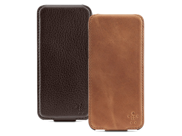 Belkin Leather Flip Case - iPhone SE / 5s / 5 hoesje