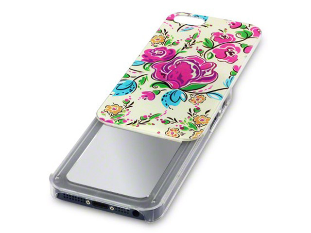Floral Slide-Out Mirror Case - iPhone SE/5s/5 hoesje