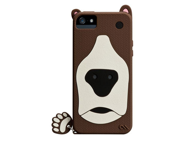 Case-Mate Creatures Grizzly Silicone Skin Case voor iPhone 5/5S