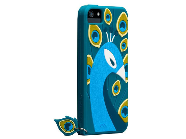 Case-Mate Creatures Peacock Silicone Skin Case voor iPhone 5/5S
