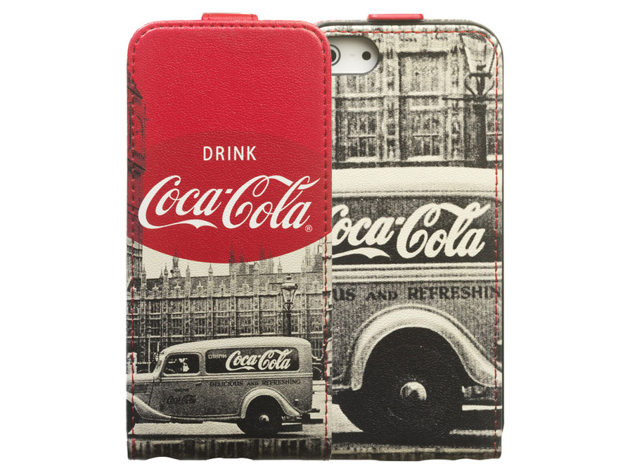 Coca-Cola City Cab Flip Case Hoesje voor iPhone 5/5S
