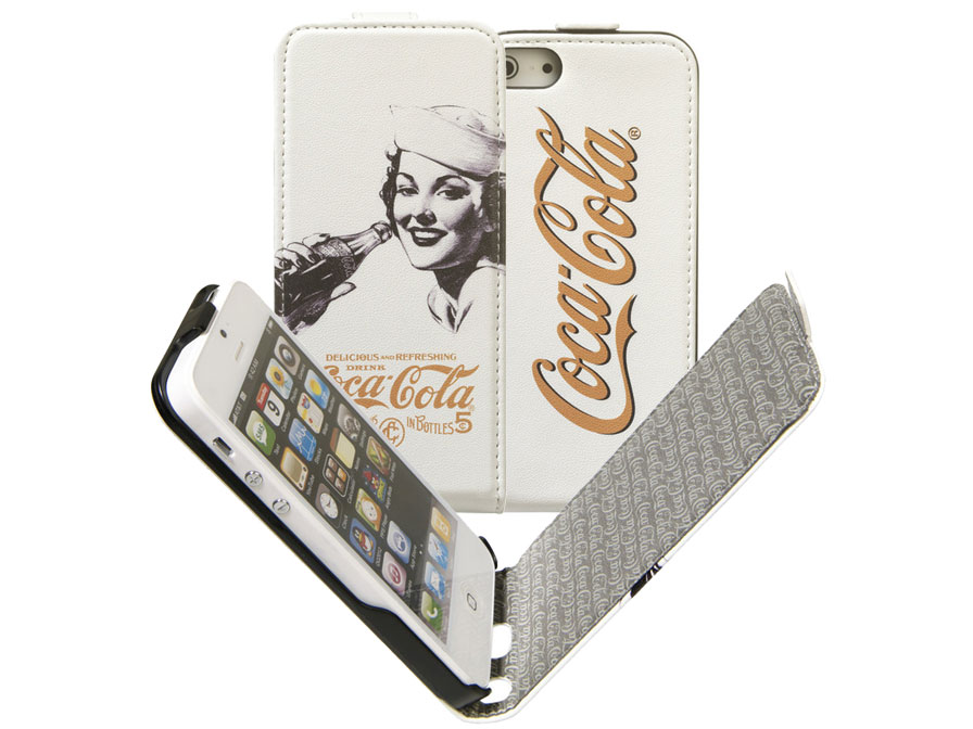 Coca-Cola Golden Beauty Flip Case Hoesje voor iPhone 5/5S