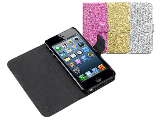 Covert Glittery Disco Sideslip Case Hoesje voor iPhone 5/5S Mercedes Onderdelen