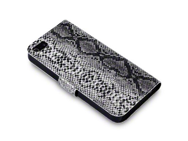 Covert Snakeskin Sideslip Wallet Case Hoesje voor iPhone 5/5S