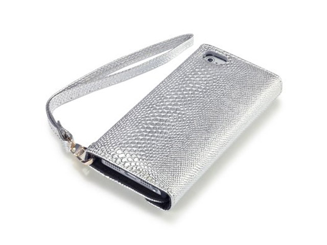 Covert Shiny Snake Trifold Wallet Case Hoesje voor iPhone 5/5S