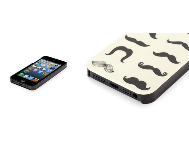 Griffin Mustachio Case - iPhone SE / 5s / 5 hoesje
