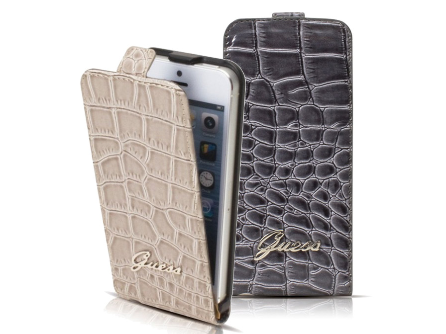 Guess Croco Flip Case - iPhone SE / 5s / 5 hoesje