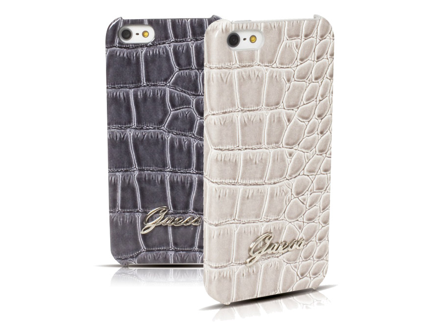 Guess Croco Hard Case - iPhone SE / 5s / 5 hoesje