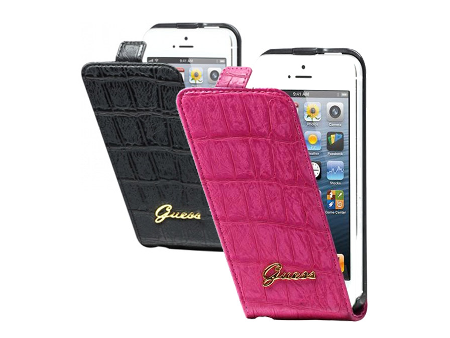 Guess Matte Croco Flip Case - iPhone SE / 5s / 5 hoesje