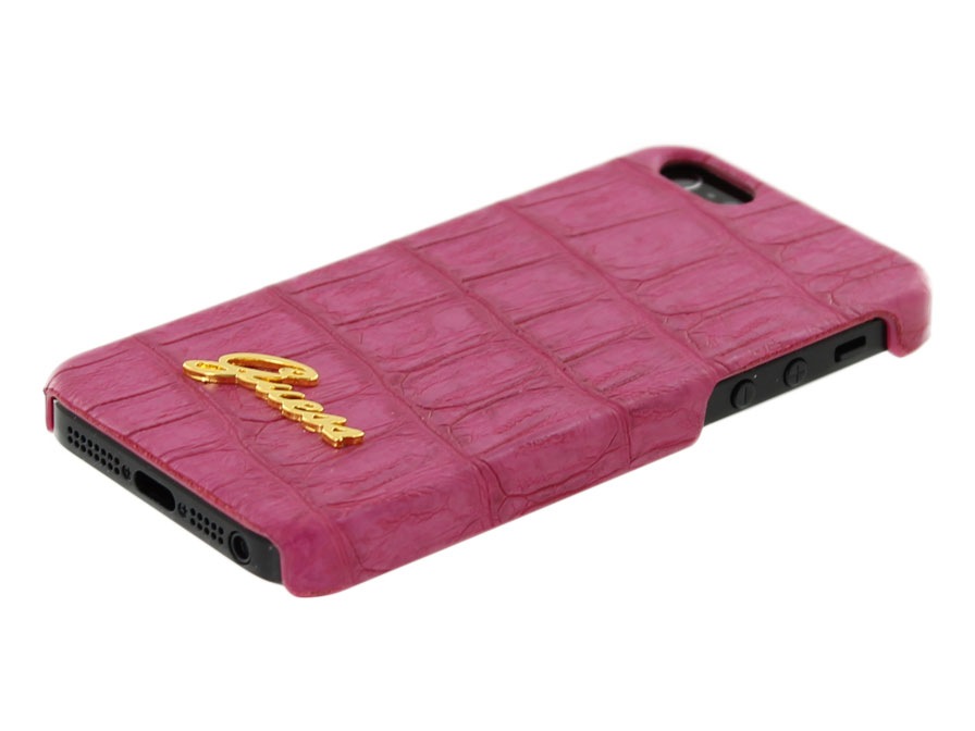 Guess Matte Croco Hard Case - iPhone SE / 5s / 5 hoesje