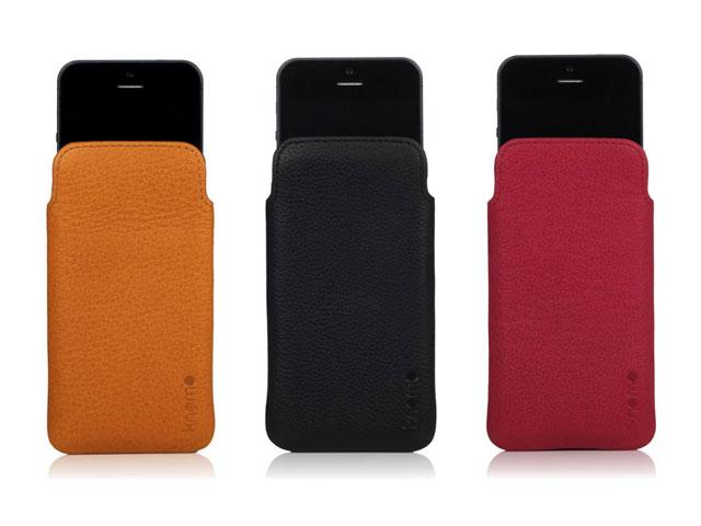 buy online 724cc 00871 Knomo Leather Slim Sleeve - iPhone SE / 5s / 5 hoesje
