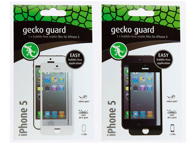 Gecko Guard Bubble-Free Protector voor iPhone 5/5S