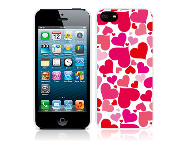 CaseBoutique Hearts Case - iPhone SE / 5s / 5 hoesje
