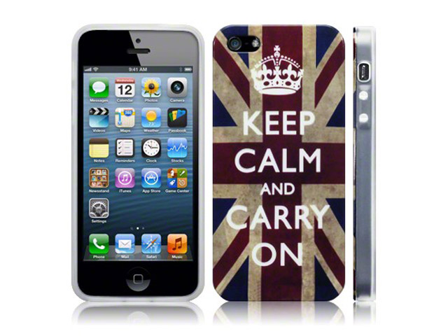 CaseBoutique Keep Calm Case - iPhone SE / 5S / 5 hoesje
