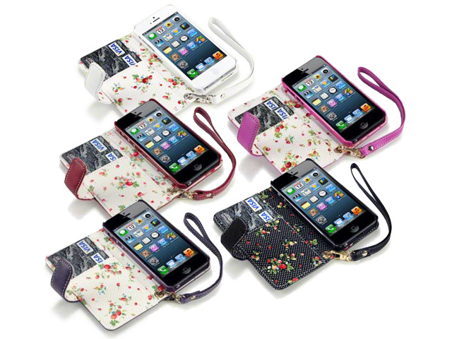 CaseBoutique Flower Bookcase - iPhone SE / 5s / 5 hoesje