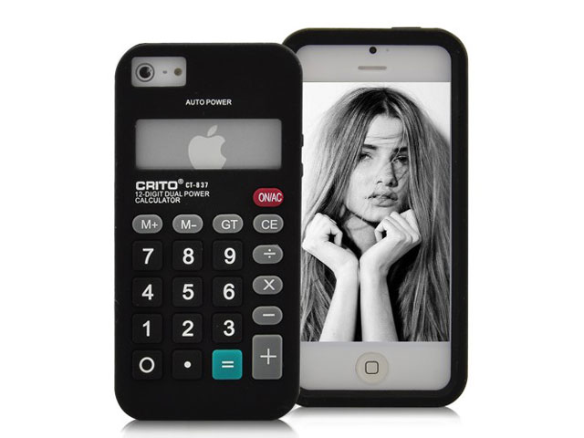 Funny Calculator Silicone Skin Case Hoes voor iPhone 5/5S