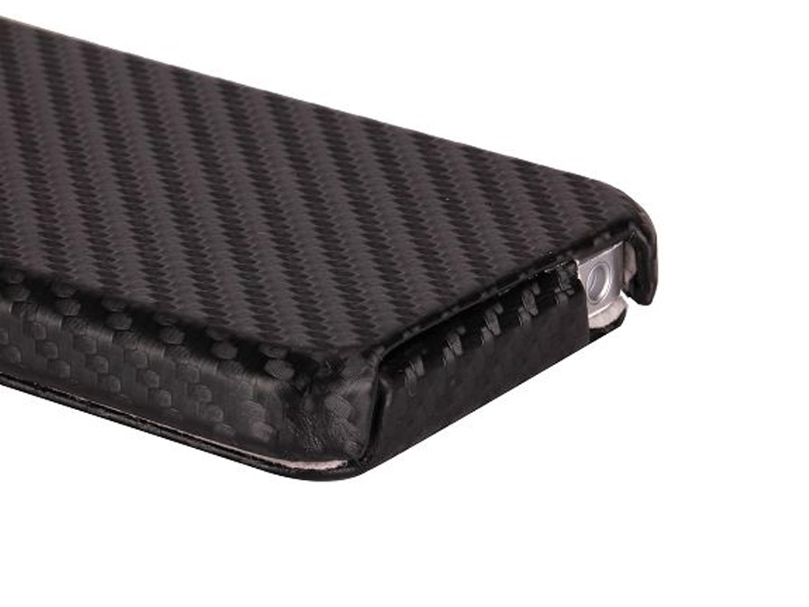 Carbon Slimline Flip Case Hoes voor iPhone 5/5S