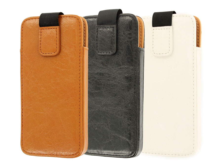 Classic Business Kunstleren Sleeve Case voor iPhone 5/5S