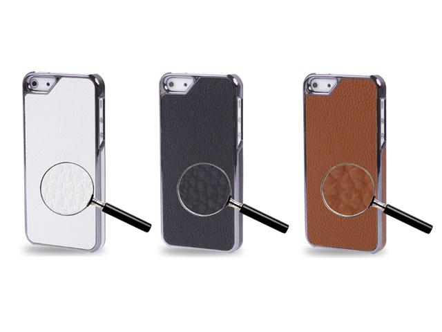 ... iPhone SE hoesjes Leather Back Case - iPhone SE / 5s / 5 hoesje