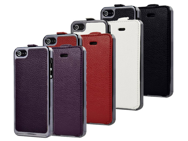 Deluxe Leather Flip Case - iPhone SE / 5s / 5 hoesje