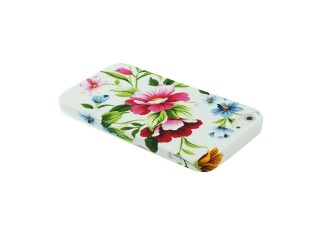 Elegant Flowers TPU Case Hoesje voor iPhone 5/5S