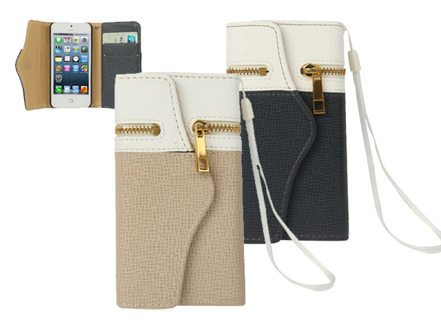 Fashion TriFold Wallet Case Hoesje voor iPhone 5/5S