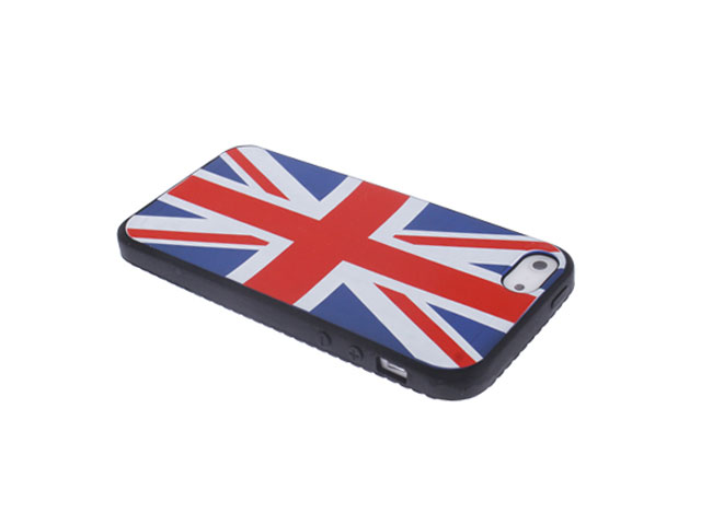 Great Brittain Silicone Skin - iPhone SE/5s/5 hoesje