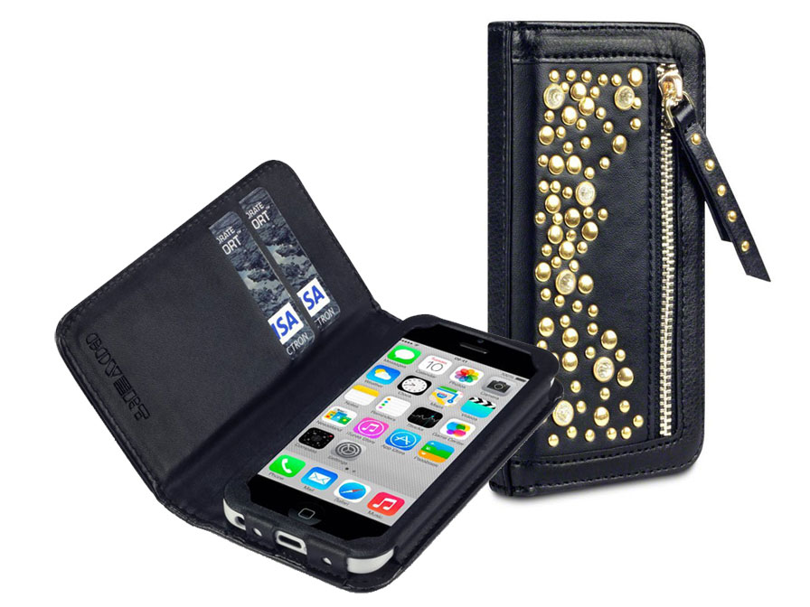 Covert Stardust Studded Wallet Case Hoesje voor iPhone 5C