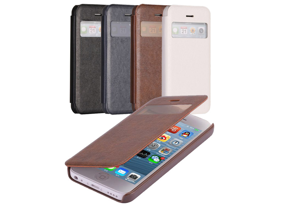 Case Design armor phone cases : Classic View Sideflip Case Hoesje voor iPhone 5C