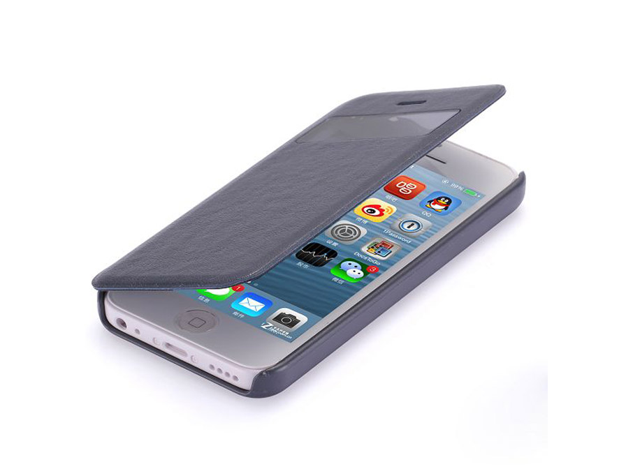 Classic View Sideflip Case Hoesje voor iPhone 5C