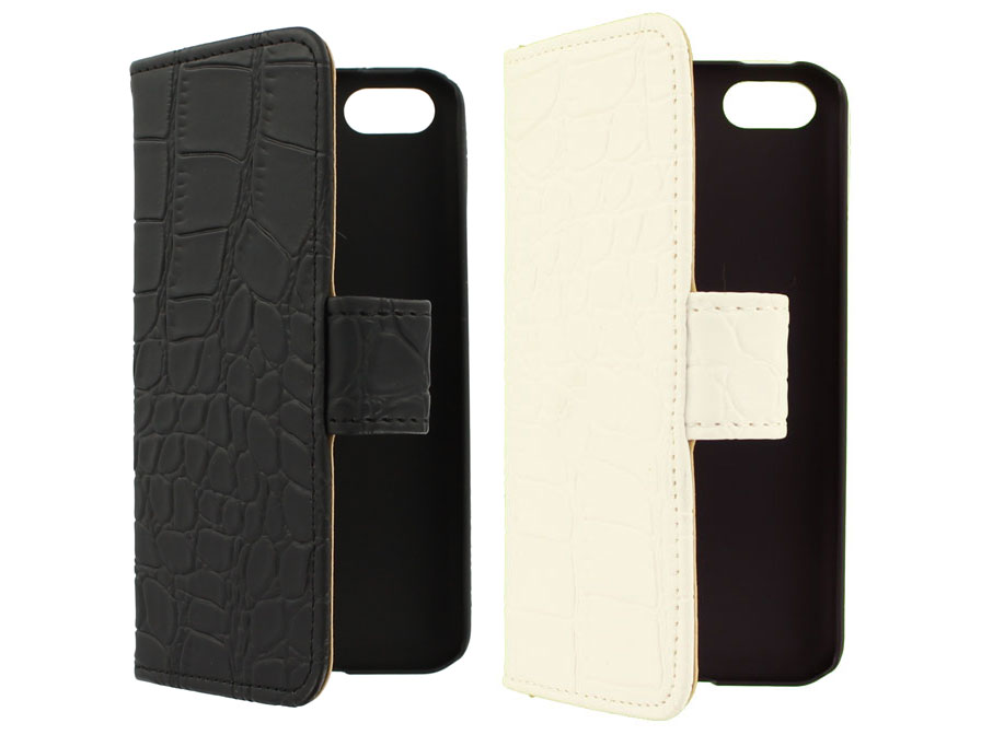 Croco Book Case Hoesje voor iPhone 5C