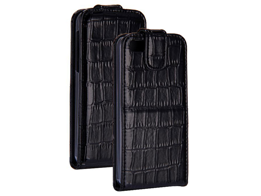 Croco Bottom Flip Case Hoesje voor iPhone 5C