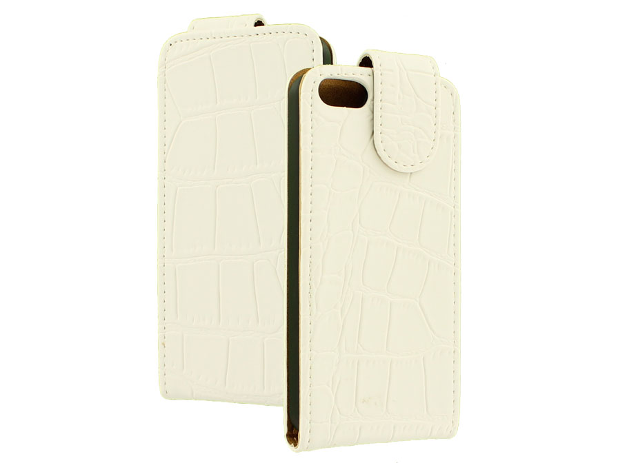 Croco Flip Case Hoesje voor iPhone 5C