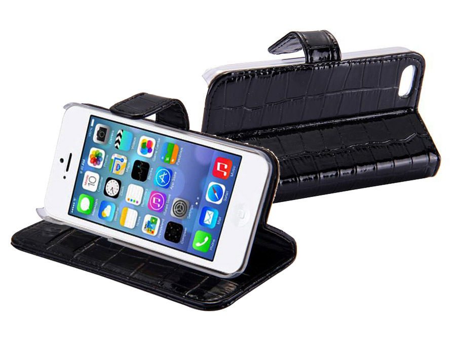Croco Side Flip Case Hoesje voor iPhone 5C