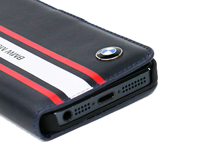 BMW Motorsport Bookcase - Kunstleren Hoesje voor iPhone 5/5S