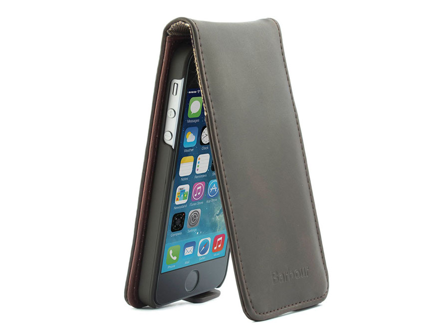 Barbour Leather Flip Case - Hoesje voor iPhone 5/5S
