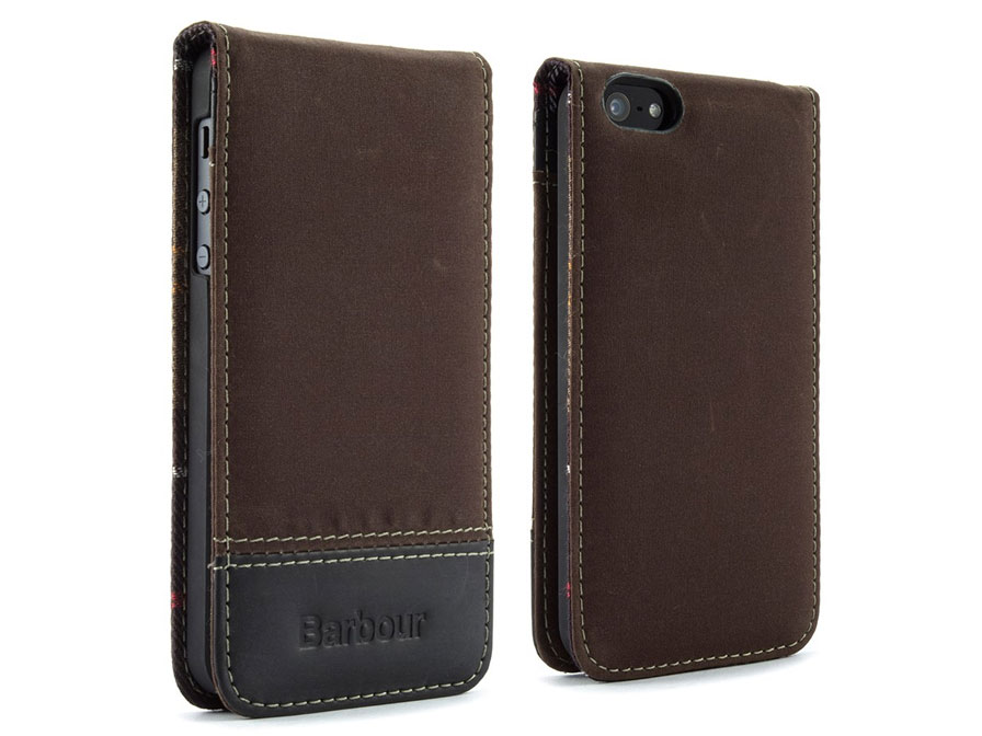 Barbour Waxed Cotton Flip Case - iPhone SE/5s/5 hoesje