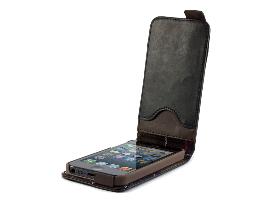 Barbour Leather Style Flip Case - Hoesje voor iPhone 5/5S