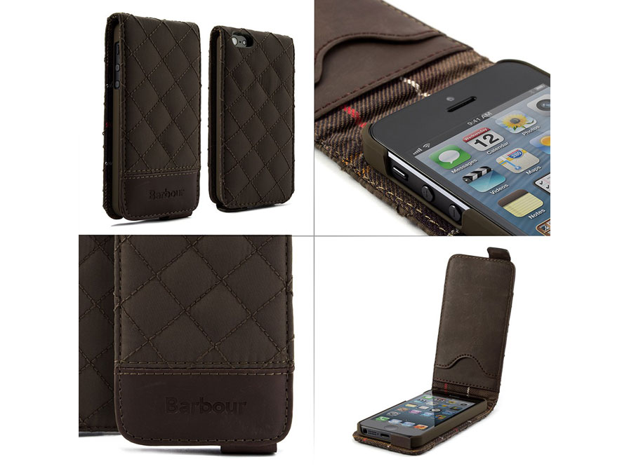 Barbour Quilted Flip Case - iPhone SE / 5s / 5 hoesje
